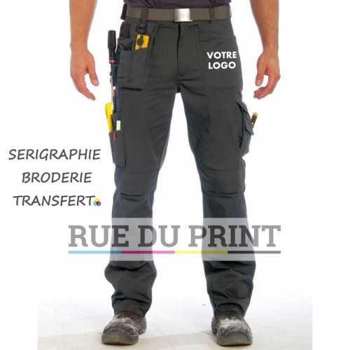 Pantalon publicité avec renforts 65% polyester, 245 g/m2 35% coton sergé avec renforts en Cordura