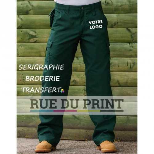 Pantalon personnalisable de travail dur 65% polyester/35% coton canvas, 260 g/m2 revêtement DuPontTM Teflon®