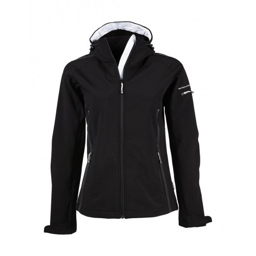 Softshell personnalisée femme Fashion 95% polyester, 5% spandex, 290-300 g/m² softshell 3 couches avec membrane TJtech