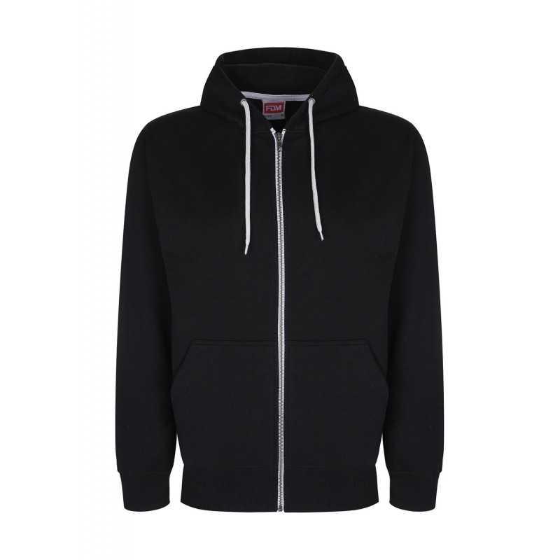Sweat shirt publicitaire Active 300 g/m² 80% coton, 20% polyester capuche 3 pans avec intérieur et cordon contrastés
