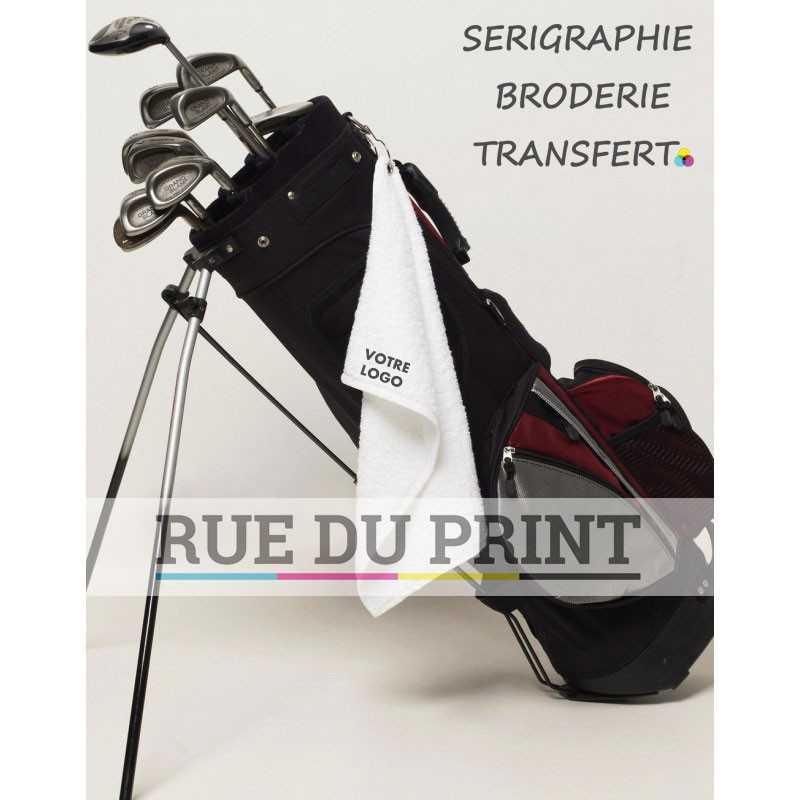 Serviette publicité de golf Colorado 550 g/m² 100% coton serviette de golf avec anneau métallique