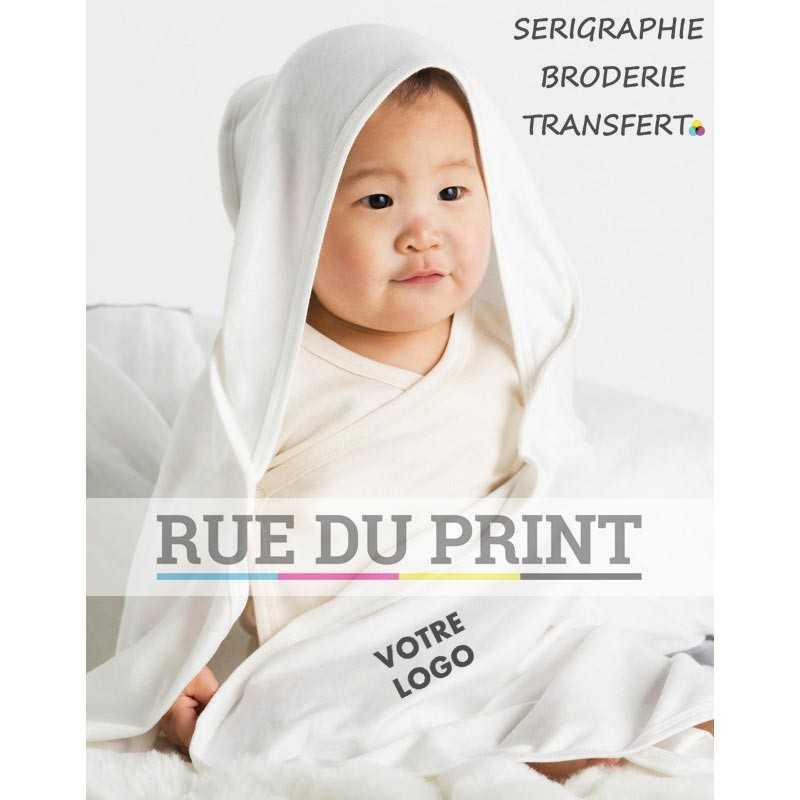 Couverture publicité bébé bio 200 g/m² 100% coton, organique, ringspun peigné tissu interlock