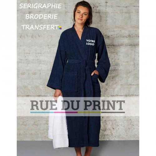 Peignoir publicité Garda 420 g/m² 100% coton peignoir kimono