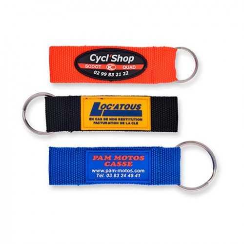 Porte-clés tissus publicitaire