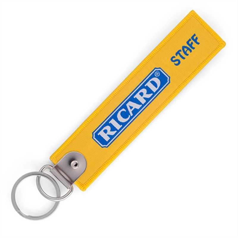 Porte-clés tissus publicitaire BRODE