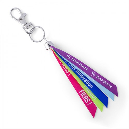 Porte-clés tissus ruban