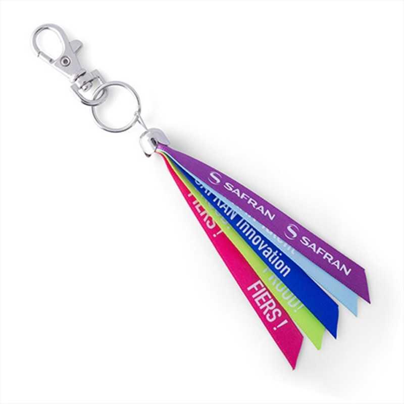 Porte-clés tissus publicitaire ruban