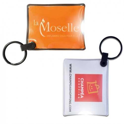 Porte-clés lampe carte