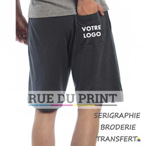 Shorts publicités classique 100% coton ringspun prérétréci, 85 g/m2 jersey simple