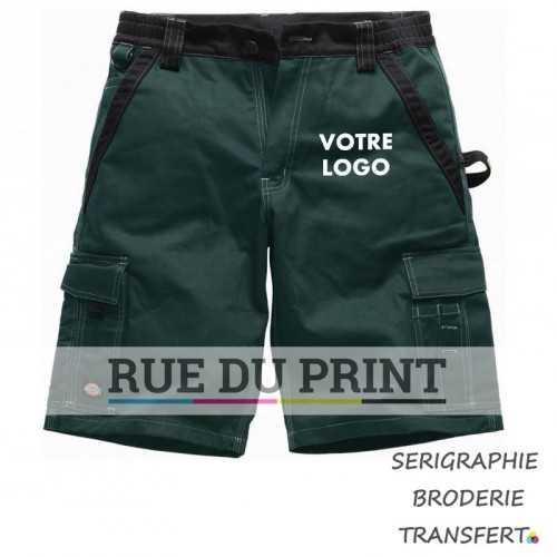 Short publicité Industry 300 65% polyester, 35% coton, 300 g/m2 taille élastiquée 2 poches de côté 2 poches arrière à rabat