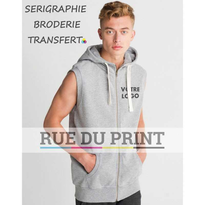 Sweat shirt publicité homme sans manches Superstar 330 g/m² 80% coton, 20% polyester polaire brossé à l'intérieur