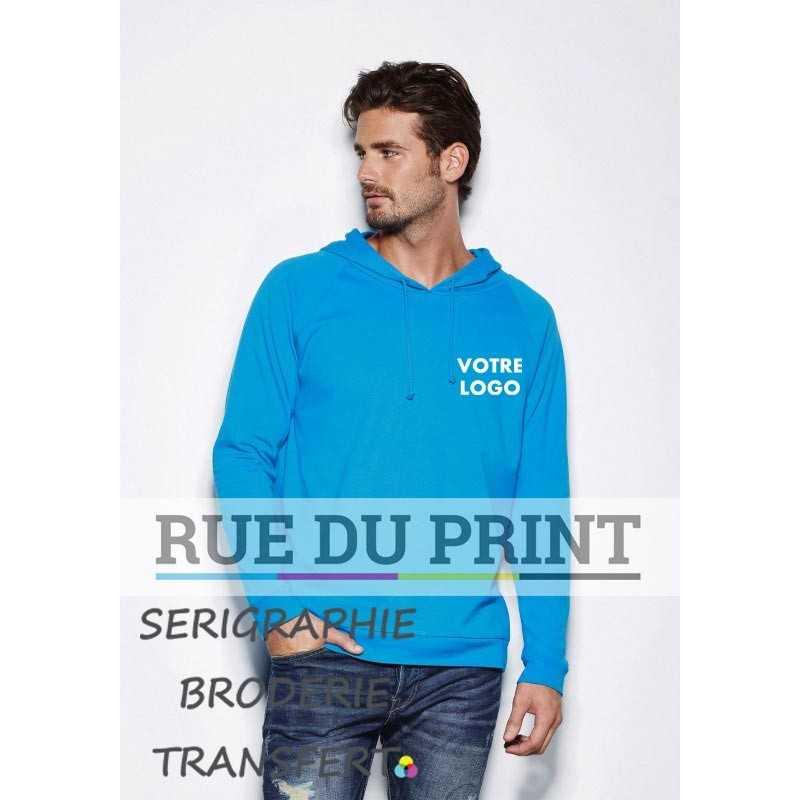Sweat shirt publicité Unisex 190 g/m² 100% coton, ring-spun Capuche avec cordon ton sur ton