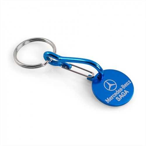 Porte-clés jeton aluminium - Marquage gravure laser 1 face