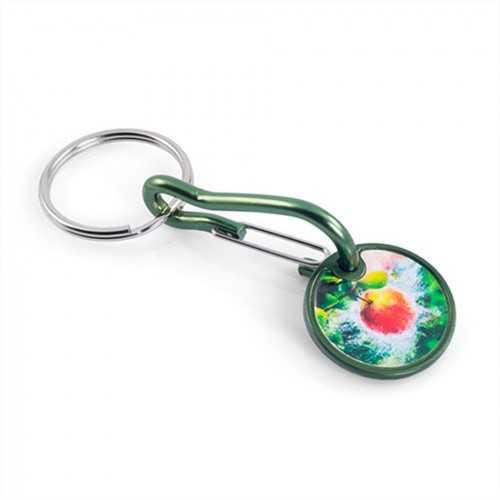 Porte-clés jeton aluminium-Marquage quadri