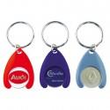 Porte-clés jeton plastique + Jeton