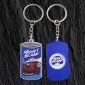 Porte-clés jeton PVC souple + jeton métal