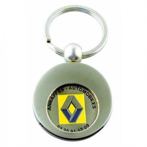 Porte-clés jeton attache rond
