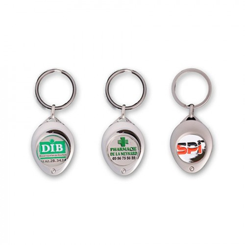 Porte-clés jeton attache ovale