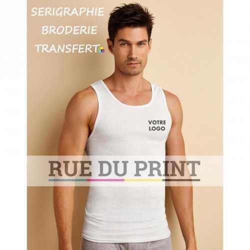 T shirt publicité homme platinium 100% coton ringspun bord côte 2 x 1 pas d étiquette