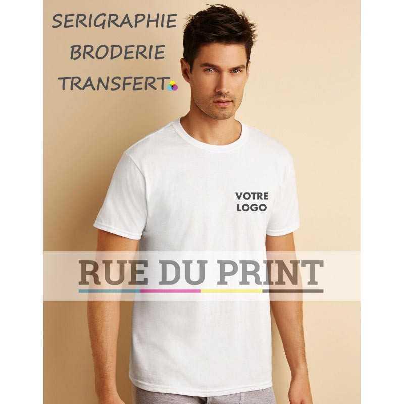 T-shirt personnalisable homme Platinum 100% coton ringspun (maille jersey) col rond bande de propreté