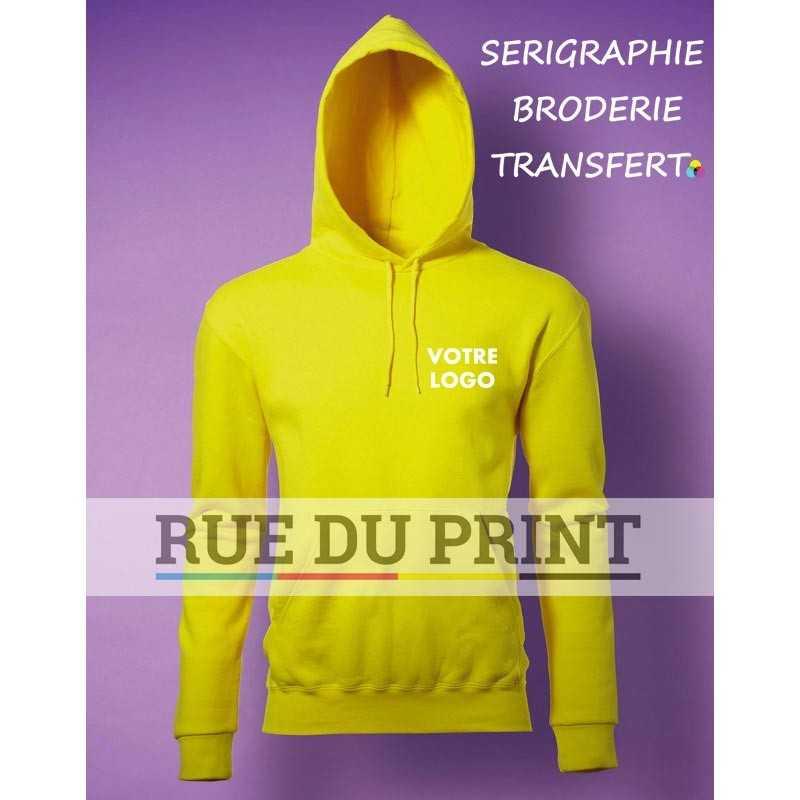 Sweat shirt publicité poche kangourou 280 g/m2 80% coton peigné à fil de chaîne continu, 20% polyester (Light Oxford: 70% coton