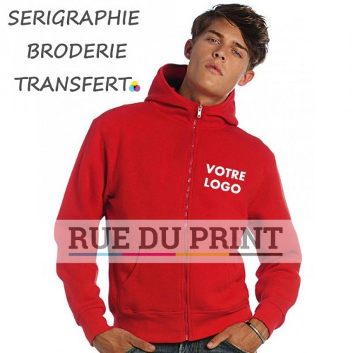 Sweat shirt à fermeture homme