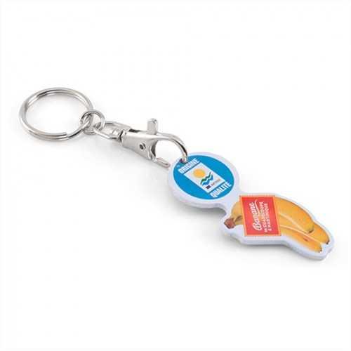 Porte-clés jeton aluminium