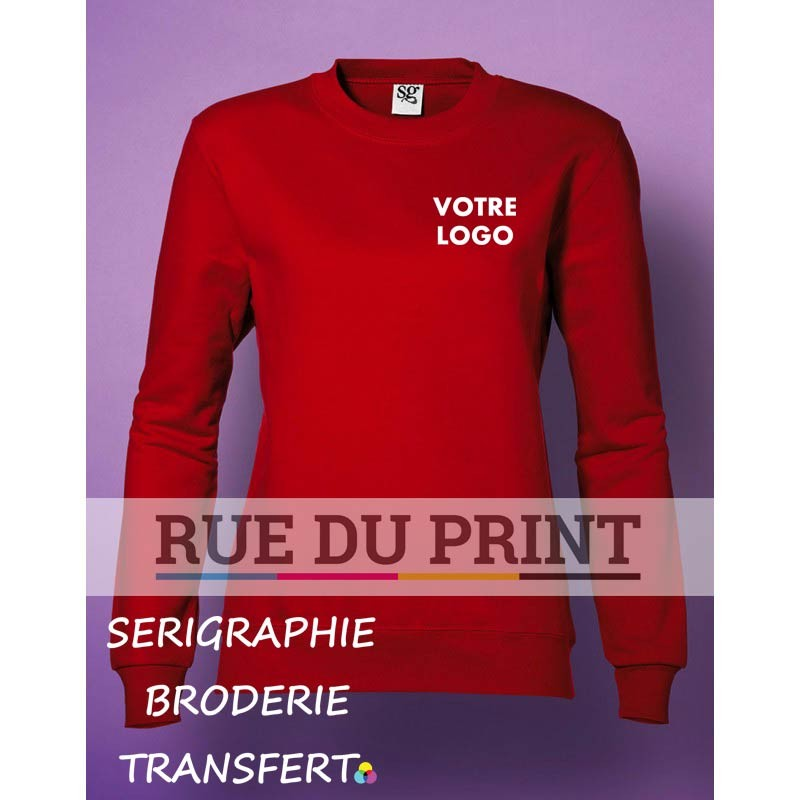 Sweat shirt publicité femme 280 g/m2 80% coton peigné à fil de chaîne continu, 20% polyester (Light Oxford: 70% coton, 30% poly