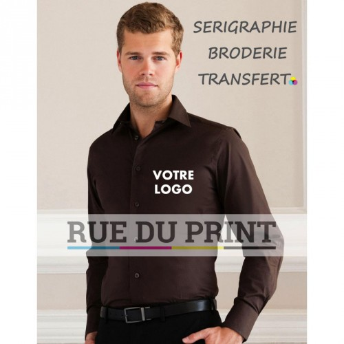 Chemise manches longues Stretch