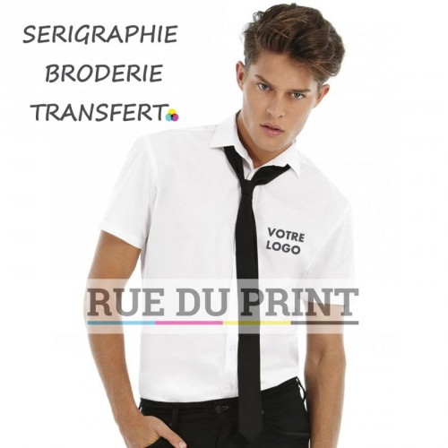 Chemise manches courtes homme Poplin