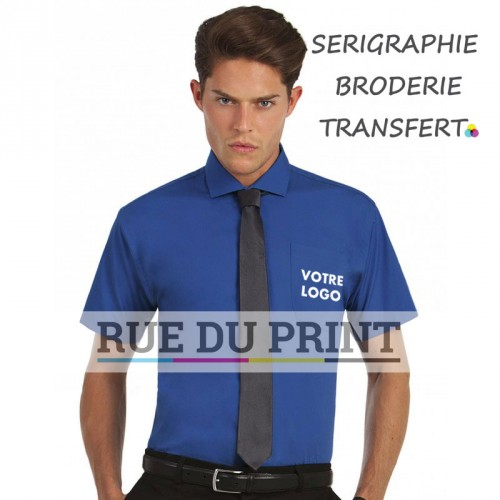Chemise manches courtes homme Heritage Poplin