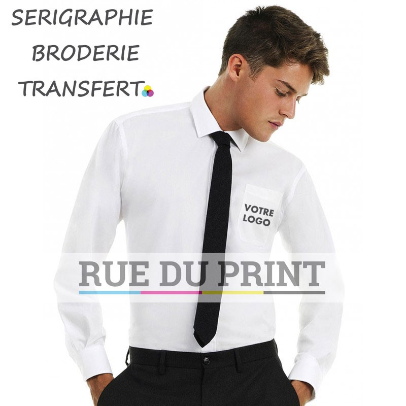 Chemise homme manches longues S-L Twill