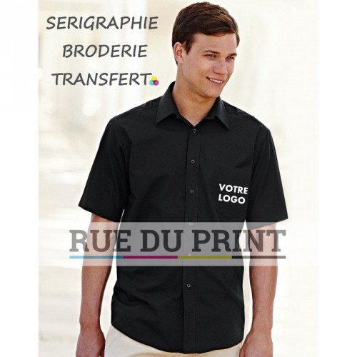 Chemise manches courtes Poplin