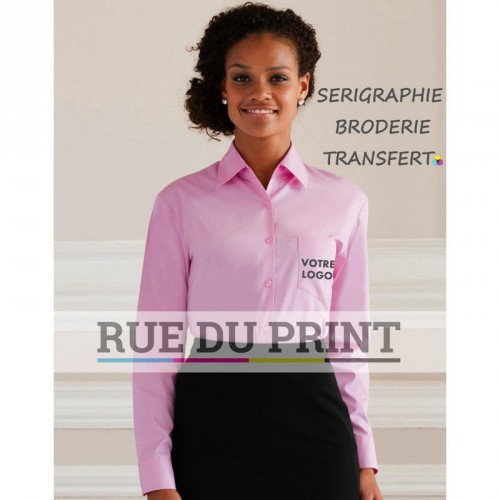 Chemisier manches longues Poplin