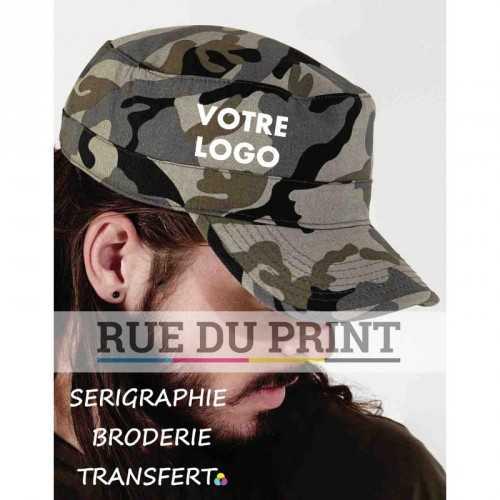 Casquette publicité armée 100% coton (twill) design militaire 6 coutures sur la visière