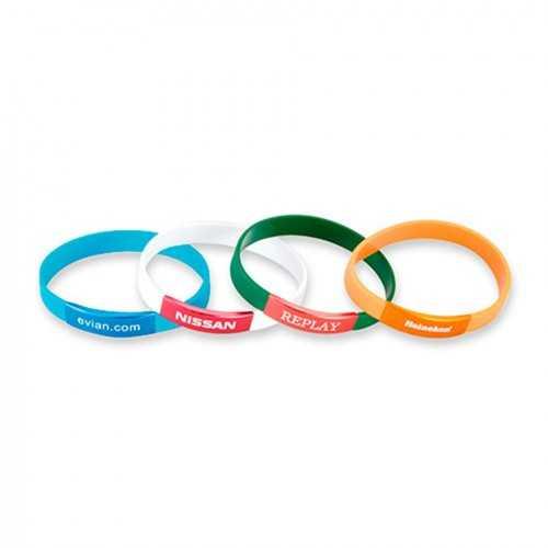 Bracelet silicone plaque alu