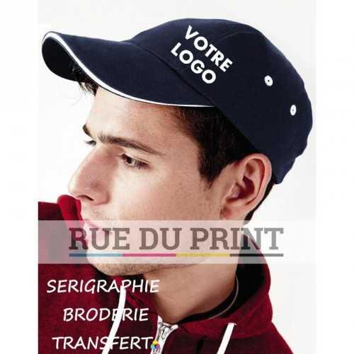 Casquette publicité Sports 100% coton (twill) brossé 3 panneaux petit profil oeillets