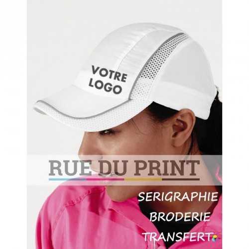 Casquette publicité Coolmax® 100% polyester (microfibre) bande respirante: 100% polyester Coolmax®