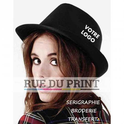 Chapeau publicité Unisexe 80% polyester, 20% coton chapeau à bord ruban noir