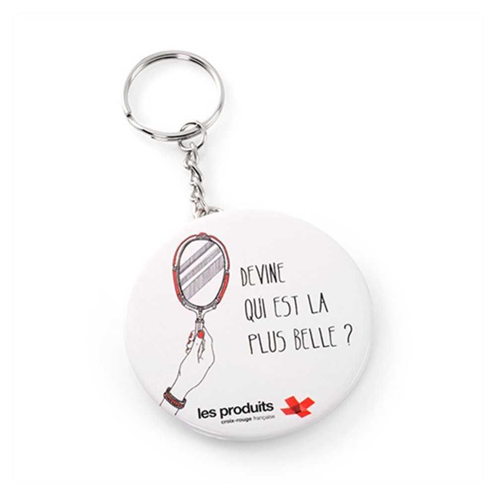 Le porte cl s miroir de nos produits miroirs personnalis s for Miroir accroche porte