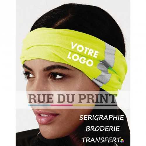 Foulard publicité renforcée Morf™ 100% polyester (microfibre) fonctions multiples sans couture pour plus de confort