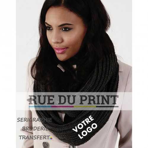 Echarpe publicité Infinity Deluxe 100% polyacrylique (toucher doux) tricot grande boucle