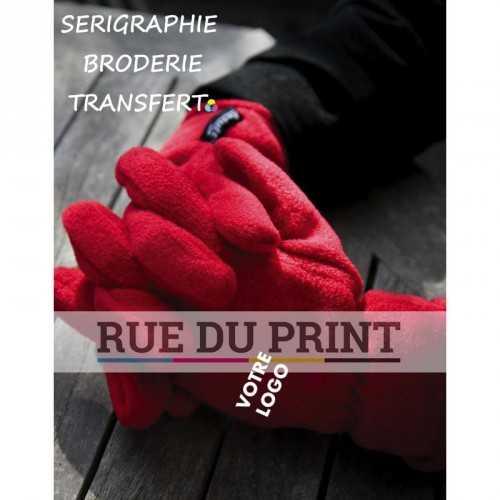 Gants publicités Active 200 g/m² 100% polyester (Active Fleece de Result™) traité anti-peluche