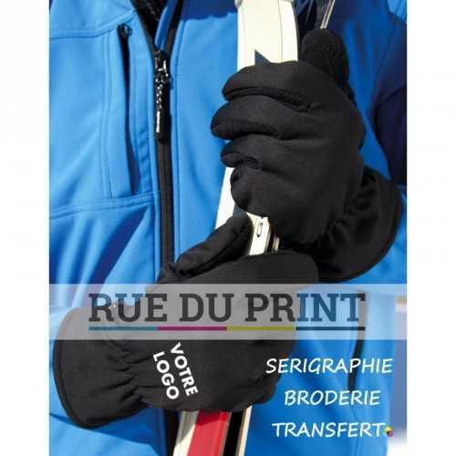 Gants publicités respirant Ext: 100% polyester int: membrane waterproof TPU respirante doublure: 100% polyester très chaud et
