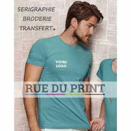 Tee-shirt publicité aqua profil homme ras de cou Luke 60% coton ringspun peigné, 40% polyester (jersey simple mélangé), 145 g/m²