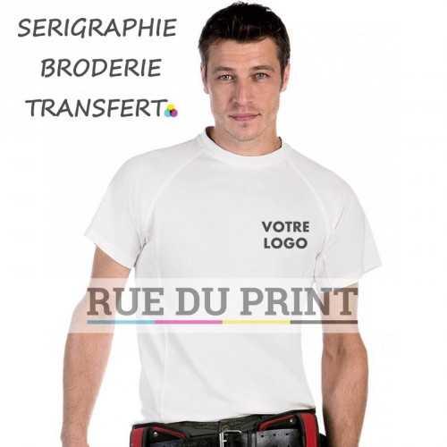 Tee-shirt publicité Raglan 160 g/m2 100% polyester t-shirt fonctionnel cool dry