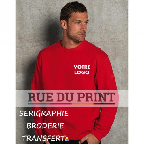 Sweat shirt de travail manches set-in