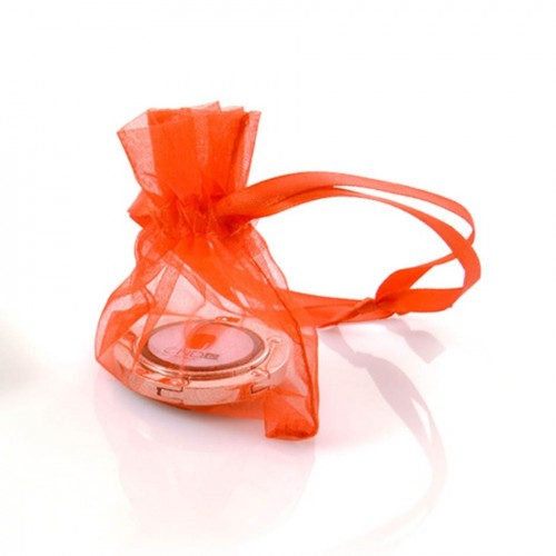 POCHETTE ORGANZA orange personnalisable