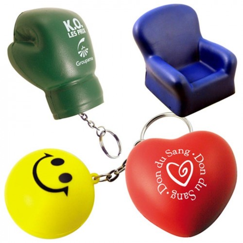 Porte-clés balle antistress-série 3