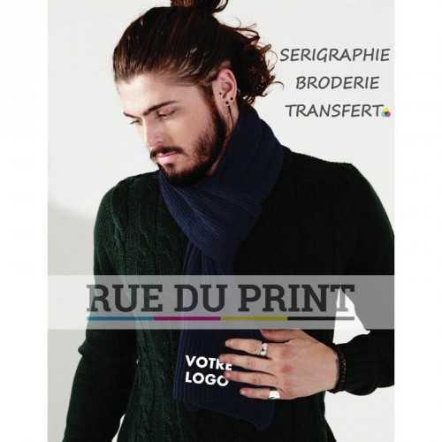 Echarpe publicité tricottée 100% acrylique Doux au toucher Tricot douillet Poids: 130 g